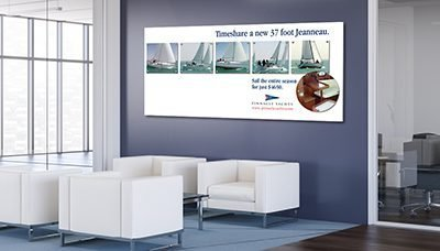 Office Wall Idea 1: Advertising Wall
