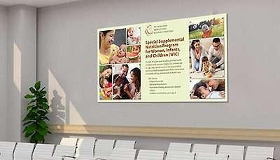 Office Wall Idea 9: Information Wall Display