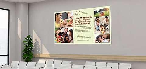Office Wall Idea 1: Information Wall Display