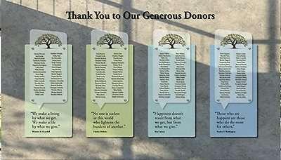 Donor Wall Idea 4
