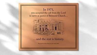 Custom Wall Plaque Idea 16: Pastor Appreciation